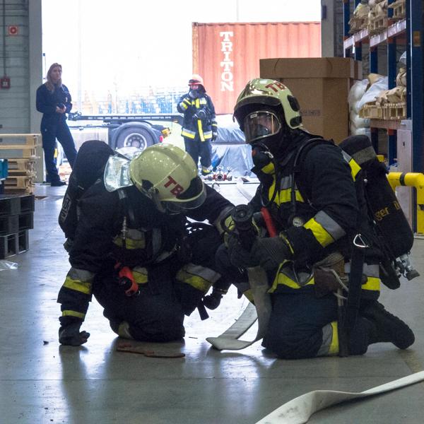 Megyei szintű üzemi tűzvédelmi gyakorlat szervezése és koordinálása